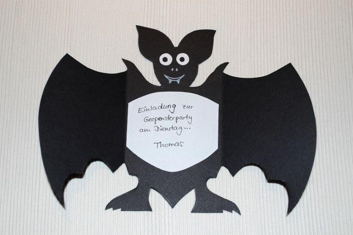 Fledermauseinladung - Kinderspiele-Welt.de