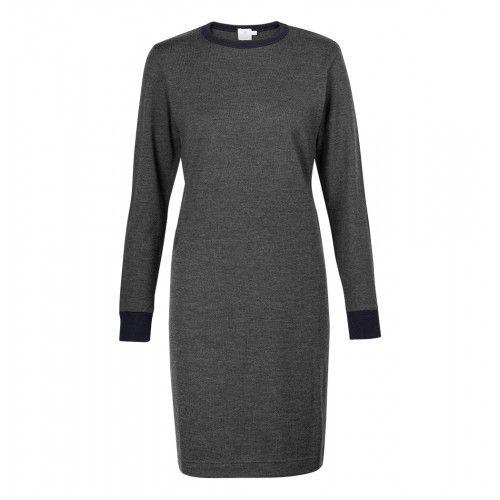 £195 SUNSPEL -- Women's Vintage Wool Long Sleeve Dress