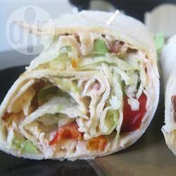 Pittige kalkoen wraps @ allrecipes.nl