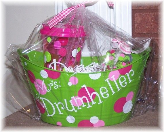8 best get well soonthinking of you gifts images on pinterest personalized bucket organizer by diddledesign on etsy teacher appreciation giftsteacher giftsvolunteer negle Choice Image