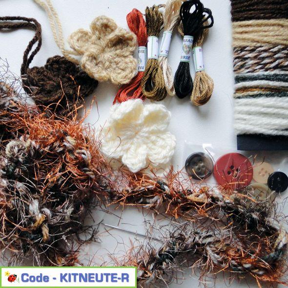 Braid Yarns Flowers & Buttons Craft Kit Neutrals Pack E, Paradis Terrestre - Luxury British Made Accessories & Homeware