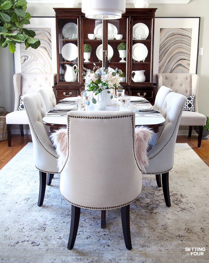 Silver Dinning Room Decor