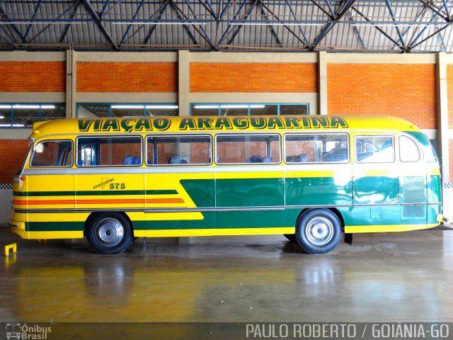 Ônibus da empresa Viação Araguarina, carro 575, carroceria Mercedes-Benz Monobloco O-321, chassi Mercedes-Benz O-321. Foto na cidade de Goiânia-GO por PAULO ROBERTO / GOIÂNIA-GO, publicada em 24/05/2013 21:54:46.