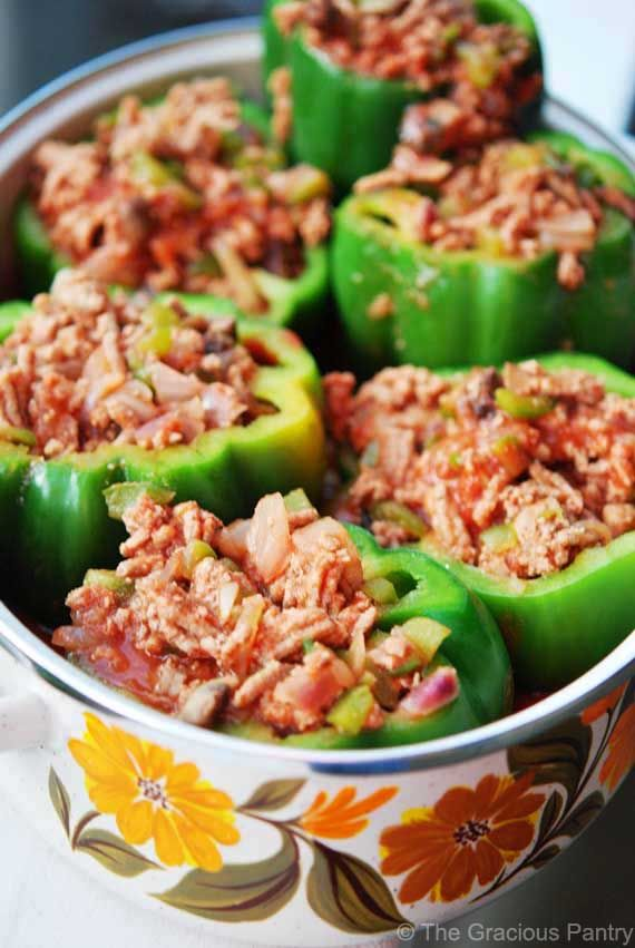Clean Eating Stuffed Bell Peppers    #recipe  #juliesoissons