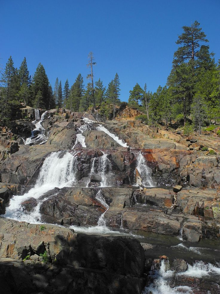 Lake Tahoe Summer Getaway: Waterfall At Fallen Leaf Lake, South Lake Tahoe