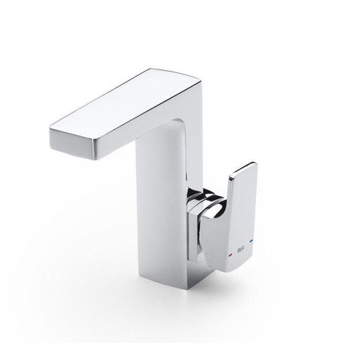 Roca L90  Mezclador para lavabo, maneta lateral integrada, desagüe automático, Cold Start  http://www.edenhogar.com/es/monomandos-lavabo/roca-l90-grifo-lavabo-maneta-lateral-5a4001c00.html