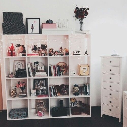 Dark and pastel shades // tumblr room room design decor teen girl white pink black gold