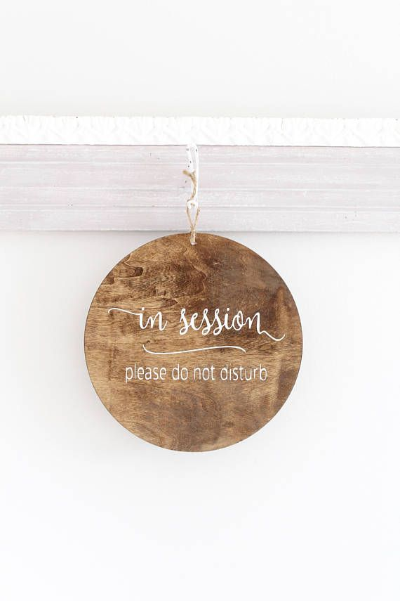 round modern in session sign do not disturb sign welcome business