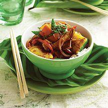 Pork and pineapple stir-fry - use chicken instead of pork