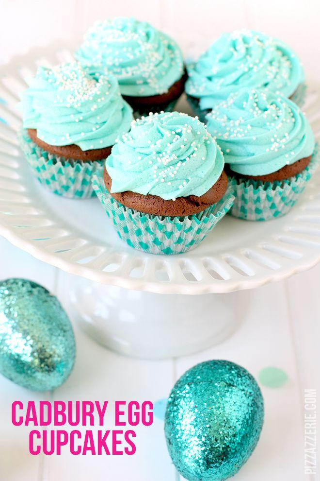 Cadbury Egg Easter Cupcakes! on http://pizzazzerie.com