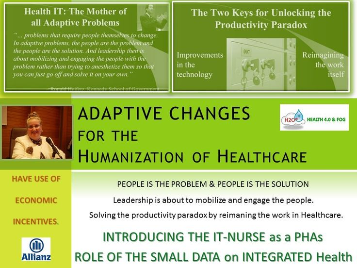 Adaptive Changes in eHealth