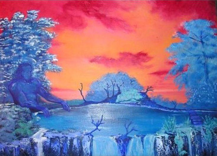 25 beste idee n over zonsondergang schilderijen op pinterest boom canvas schilderijen - Koude en warme kleur ...