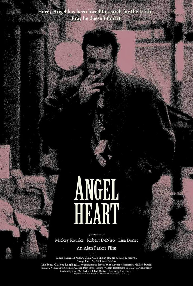 Angel Heart, Alan Parker, 1986. Stylish, sweat-leaking, slice of Southern-gothic wrapped in a Faustian-gum-shoe detective who-dunnit? Rouke takes dishevelled to new levels.