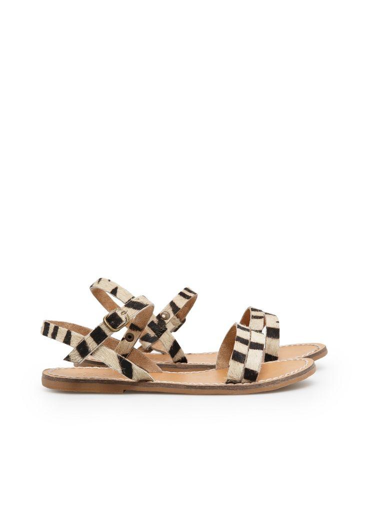 Mango leopard patterned sandals for kids