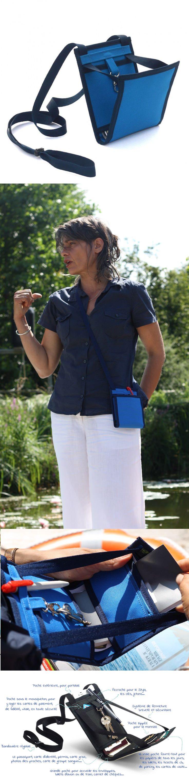 ~ Ti Sac Bleu Horizon ~ Collect. 2017 - [EN] A convenient and trendy cross-body handbag for your summer, as well as a substitute for your travel fanny pack - [FR] Un sac à main bandoulière pratique et tendance pour cet été, et une pochette de voyage en même temps. #fanny_pack #crossbody_bag #sac_a_main_bandouliere_bleu More > htts://www.tisac.shop