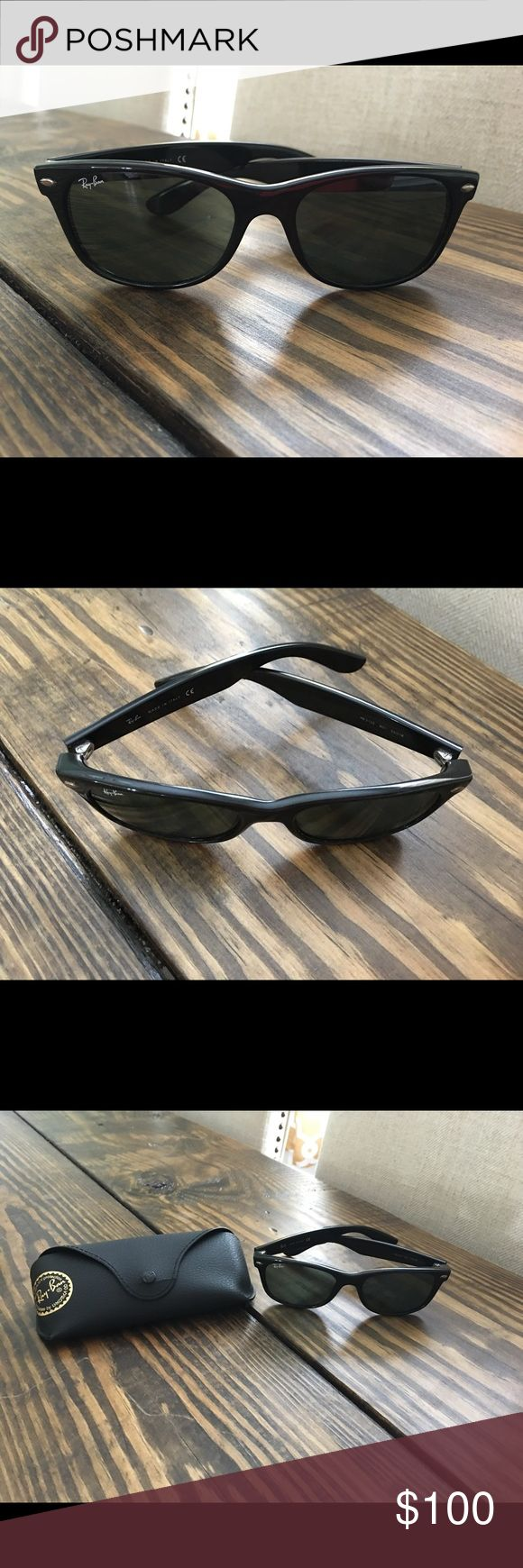 Ray Ban Wayfarer Classic Black Sunglasses Barley worn, no scratches, kept in case. Excellent condition. Ray-Ban Other