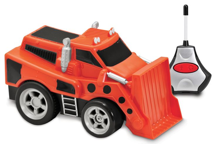 Bulldozer télécommandé - Bulldozer de 17 x 12 x 11 cm. 1 télécommande. Le véhicule fonctionne avec 3 piles AA et la télécommande 2 piles AAA (piles non incluses). -   Age : 2 ans et plus -   Référence : 00058982 #Jeux #Jouet #Famille #Enfant #Chalet #Vacances #Cadeau