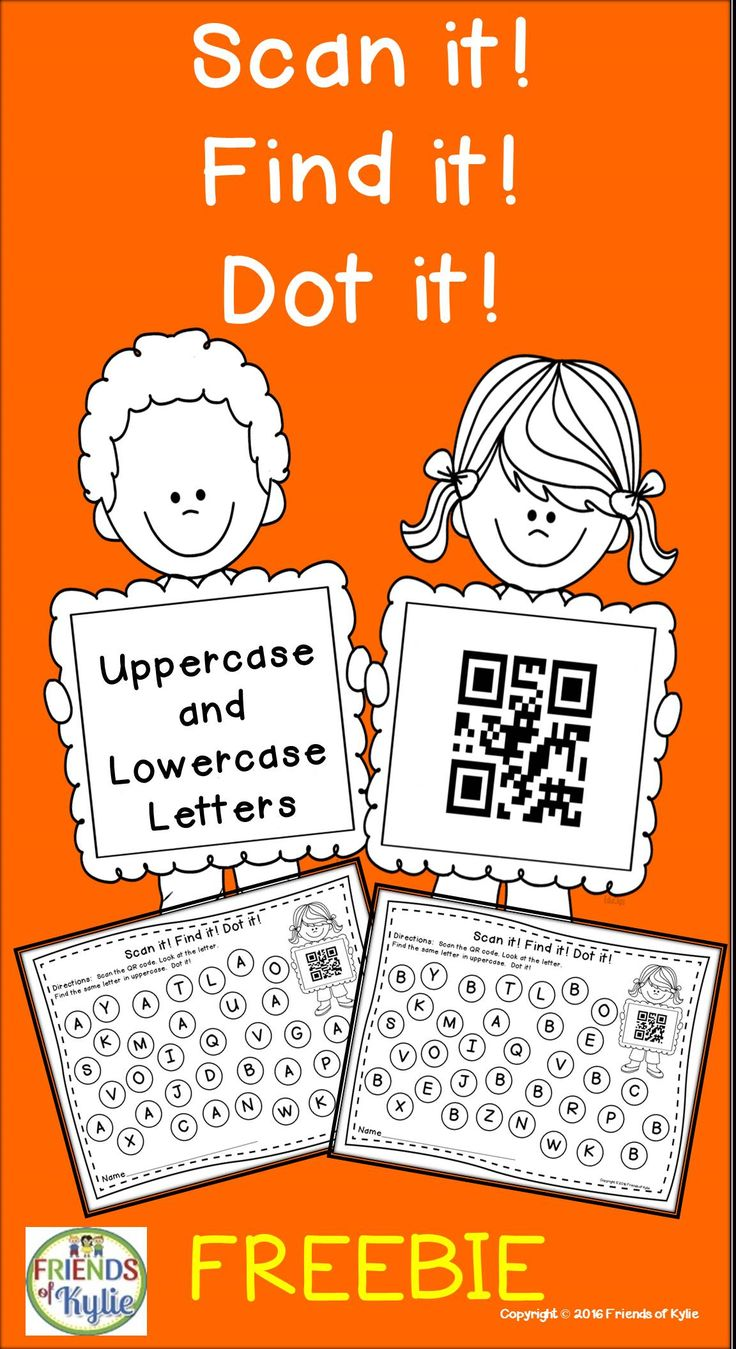 Freebie.  Letters using QR Codes.  Grades: PreK, Kinders, Homeschool.
