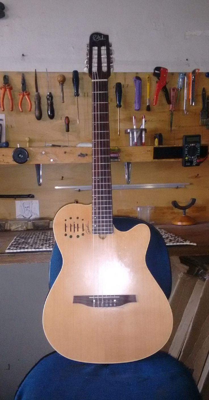 Violão Godin - Regulagem geral de afinação- Oficina das Guitarras Mozart