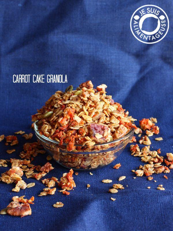 Carrot Cake Granola - Makes a great gift! | thevietvegan.com #vegan #carrotcake #granola #breakfast #fall #gift