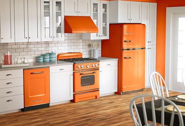 #excll #дизайнинтерьера #решения  Ретро-техника особо эффектно смотрится  в современных интерьерах кухни.