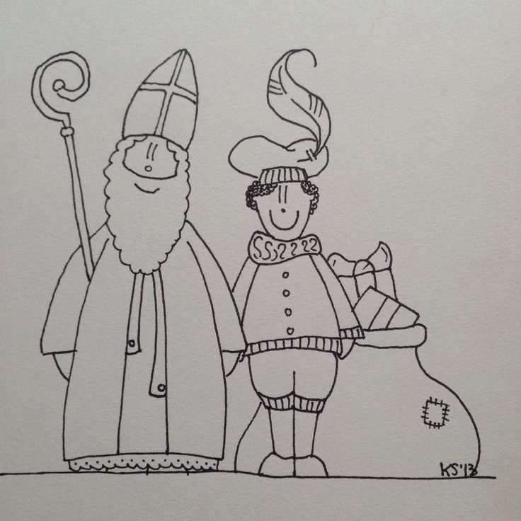 Sinterklaas | coloring pages (my own work)