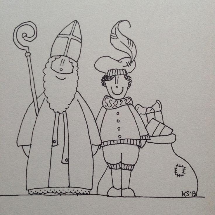 Sinterklaas | coloring pages (my own work)