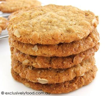 Anzac biscuits! Yum an Australian favourite. A biscuit/cookie that is pretty healthy & you should have everything in your pantry. I love to eat this dough-& no eggs so great for kids to make (& eat) too!