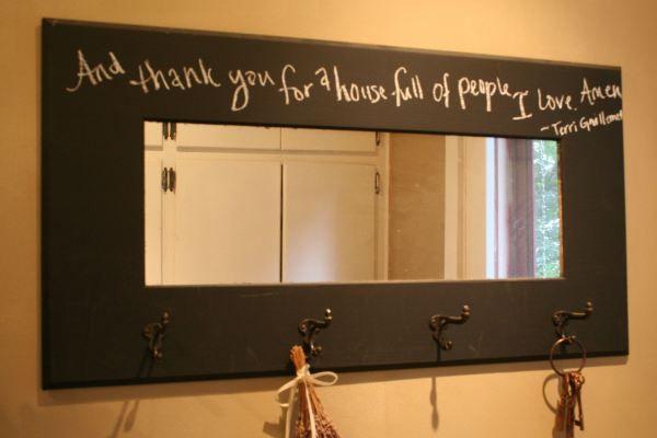 D.I.Y. Chalkboard Mirror