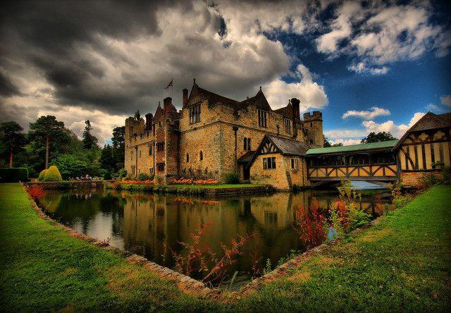 Hever Castle... home of Anne Boleyn and now oddly enough a popular wedding venue... weird