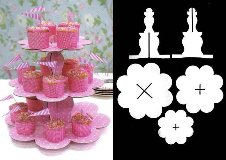 Cupcake stand by Robert Gordon, ótimo para fazer à medida da nosso tema de festa!