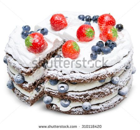 Aardbeien Taart Stock fotografie   Shutterstock