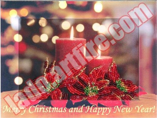 Inimitable gift, Merry Christmas and Happy New Year congratulations postcard you…