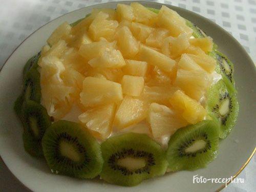 Салат из курицы с рисом и ананасами рецепт приготовления пошаговый с фото