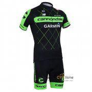 maillot Cyclisme Cannondale 2015 manche courte kits noir et vert