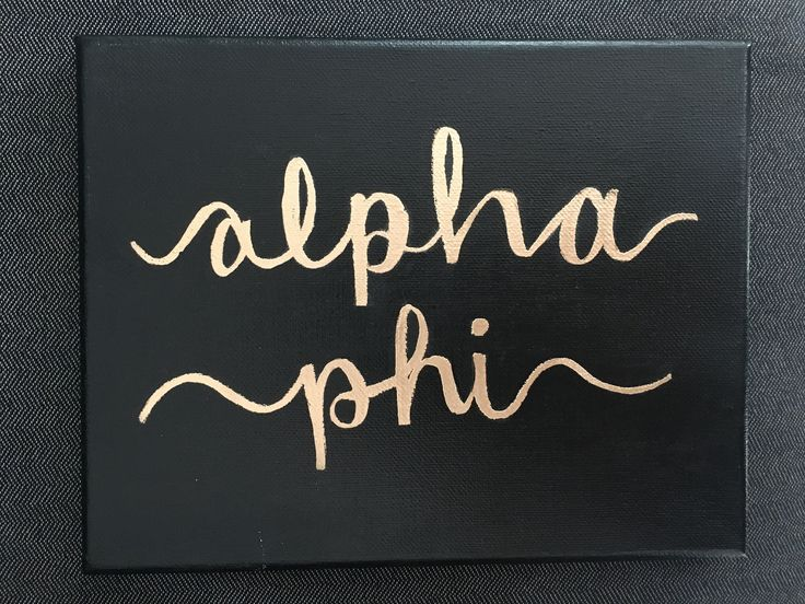 Alpha phi canvas sorority big little basket reveal