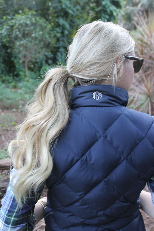 Quilted and monogrammed.