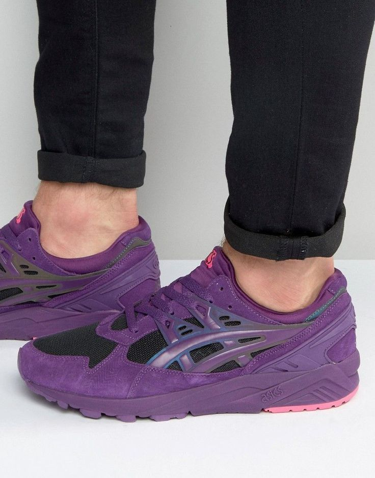 Get this Asics's sneakers now! Click for more details. Worldwide shipping. Asics Gel-Kayano Trainers In Purple H6M3N 3320 - Purple: Trainers by Asics, Colour-block textile upper, Lace-up fastening, Branding to side, Padded cuff and tongue, Chunky sole, Moulded tread, Remove marks with a damp sponge, 100% Textile Upper, Supplier code: H6M3N 3320. Asics have been developing sports shoes, trainers and apparel for over 60 years, introducing design philosophies that have revolutionised the world…