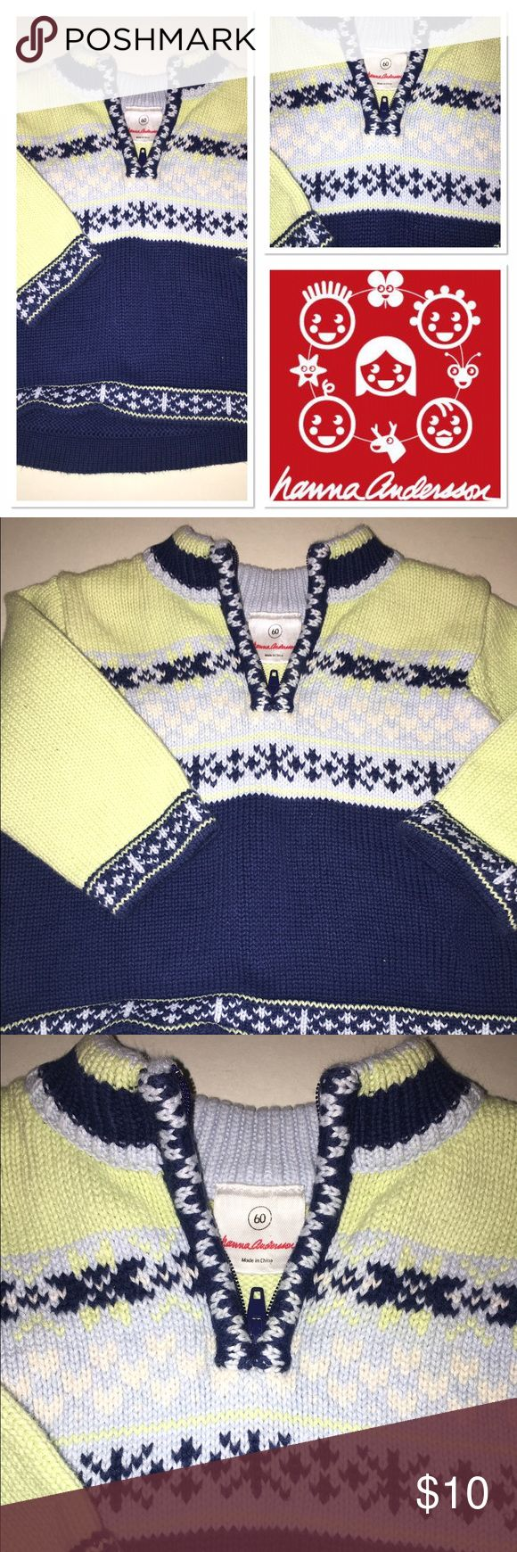 Hanna Andersson little boy sweater Perfect condition size 60 little boys sweater Hanna Andersson Shirts & Tops Sweaters