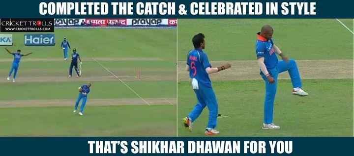 Just Shikhar Dhawan things! #SLvIND #2ndODI - http://ift.tt/1ZZ3e4d