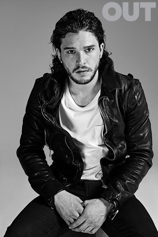 Kit Harrington of Game of Thrones, in Tom Ford & Burberry, shot by Nino Muñoz for OUT Magazine