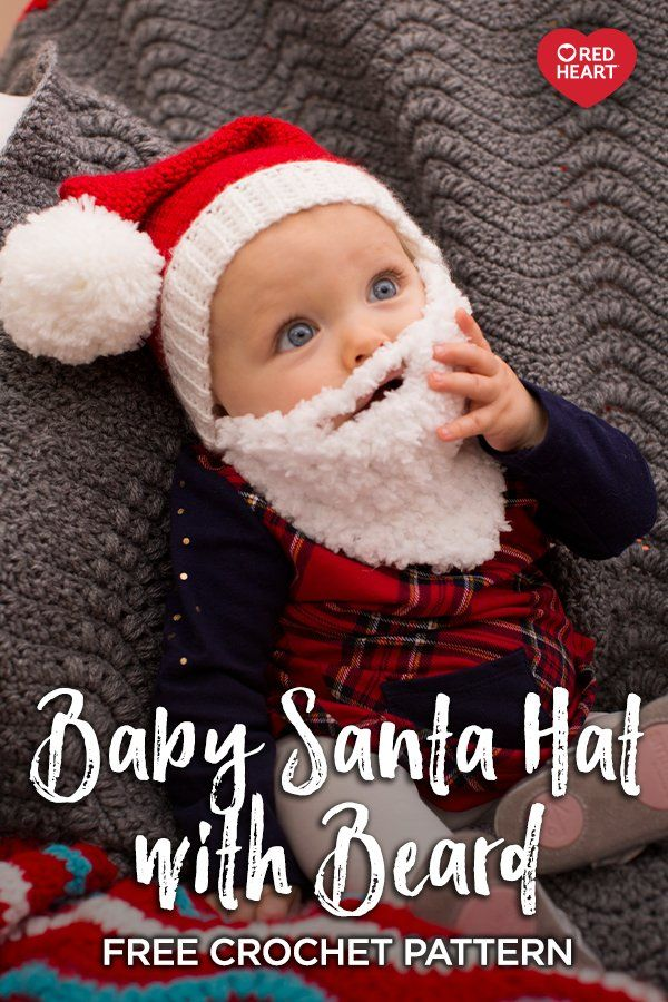 Baby Santa Hat With Beard Free Crochet Pattern In Soft And Buttercup