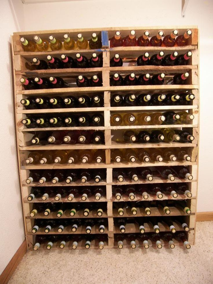 DIY Pallet wine rack....I am building this ASAP!!!! But I am sanding and staining mine.