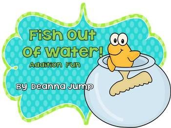 Deanna Jump - Fish Out of Water!  Math Addition Game Freebie