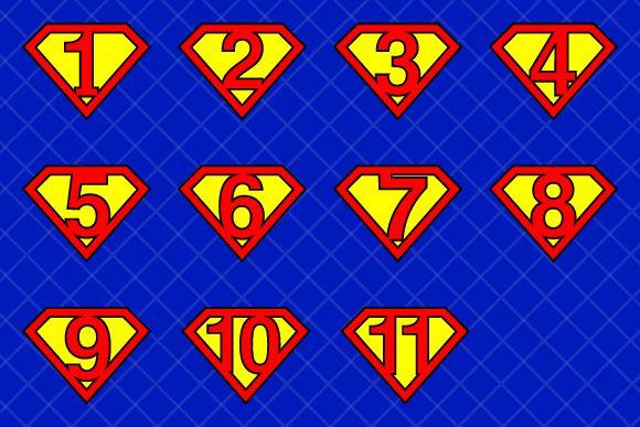 #Super #numbers v1 by stockimagefolio on Creative Market