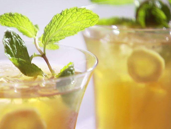 Имбирный чай со льдом