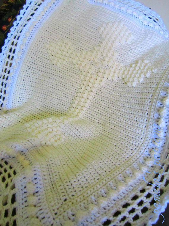 Christening Blanket Knitting Pattern : 69 best images about crochet: prayer blankets and misc on Pinterest Filet c...