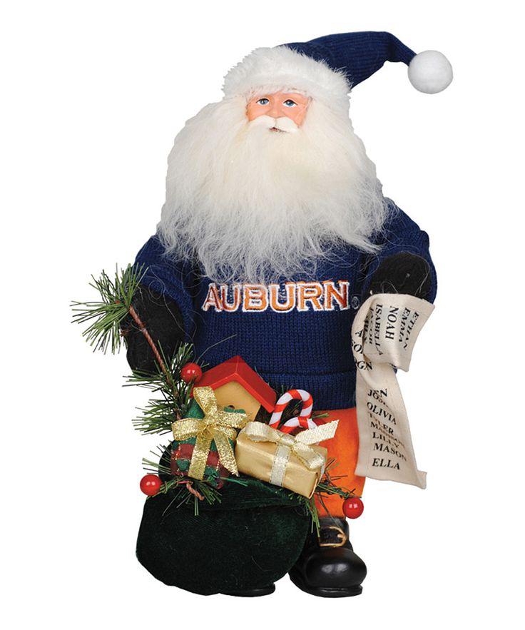 Auburn Tigers 10'' Gift-Bearing Santa Figurine