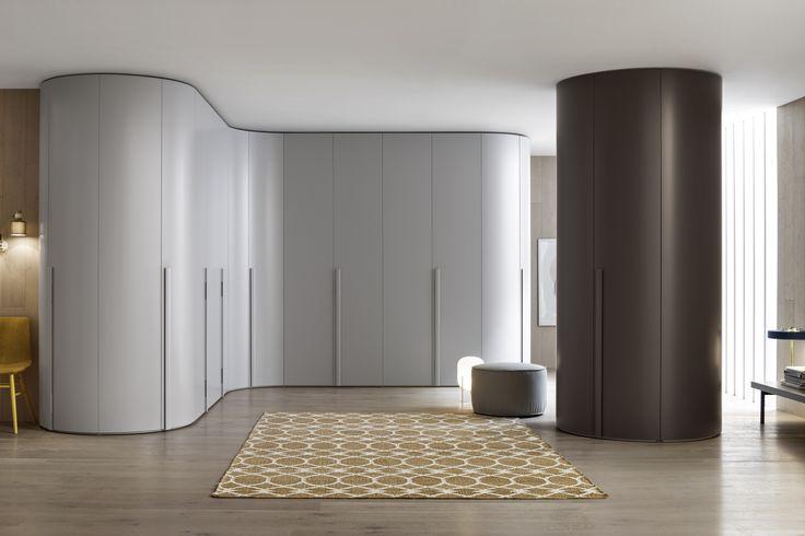 Runder Design Eckkleiderschrank Novamobili Curvo  #wardrobe #closet