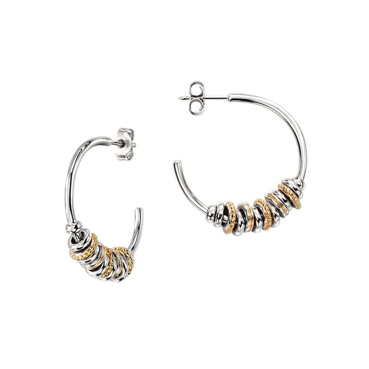 silver and gold plated hoop earring #silver #jewellery